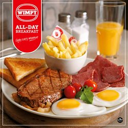 Restaurants offers in the Wimpy catalogue in Johannesburg