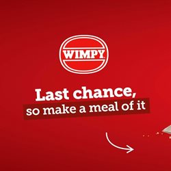 Restaurants offers in the Wimpy catalogue ( More than a month )