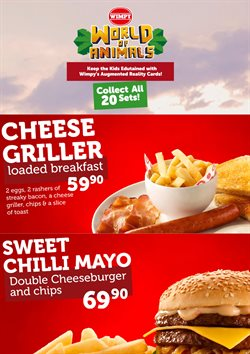 Restaurants offers in the Wimpy catalogue in Pretoria ( 20 days left )