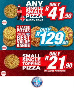 Restaurants offers in the Roman's Pizza catalogue in Boksburg ( 3 days ago )