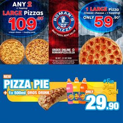 Restaurants offers in the Roman's Pizza catalogue ( 2 days left)
