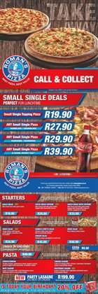 Restaurants offers in the Roman's Pizza catalogue in Randburg