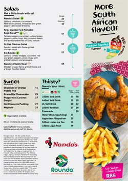 Restaurants offers in the Nandos catalogue in Johannesburg