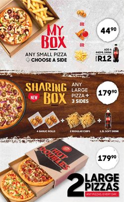 Pizza Hut deals in the Johannesburg special