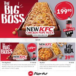 Restaurants offers in the Pizza Hut catalogue in Middelburg (Mpumalanga) ( 15 days left )