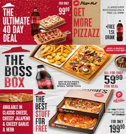 Restaurants offers in the Pizza Hut catalogue ( 4 days left)