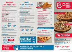Restaurants offers in the Domino's Pizza catalogue in Johannesburg