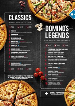 Restaurants offers in the Domino's Pizza catalogue in Cape Town