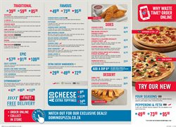 Restaurants offers in the Domino's Pizza catalogue in Randburg
