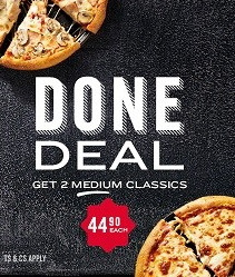Domino's Pizza deals in the Pretoria special
