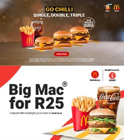 Restaurants offers in the McDonald's catalogue in Pretoria ( 21 days left )