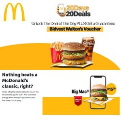 Restaurants offers in the McDonald's catalogue in Bloemfontein ( 18 days left )