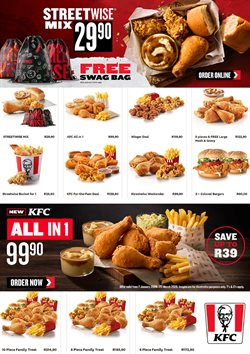 Restaurants offers in the KFC catalogue in Pretoria ( 15 days left )