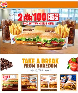 Restaurants offers in the Burger King catalogue in Rustenburg