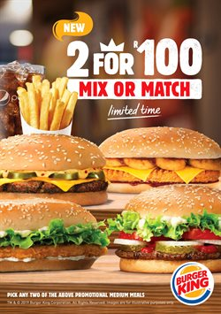 Burger King catalogue in Durban ( Expired )