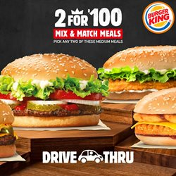 Restaurants offers in the Burger King catalogue in Roodepoort ( 3 days ago )
