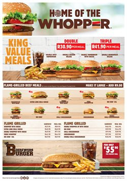 Burger King deals in the Johannesburg special