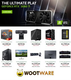 Electronics & Home Appliances offers in the Wootware catalogue in Cape Town ( More than a month )
