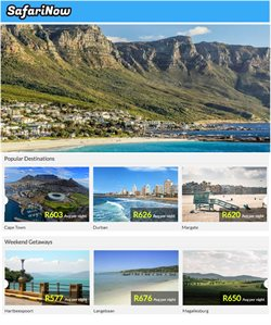 SafariNow deals in the Cape Town special