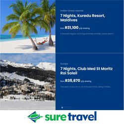 Travel offers in the Sure Travel catalogue ( 7 days left)