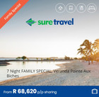 Sure Travel coupon in Polokwane ( More than a month )