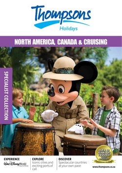 Travel offers in the Thompsons catalogue ( Expires tomorrow)