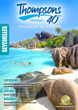 Travel offers in the Thompsons catalogue in Johannesburg