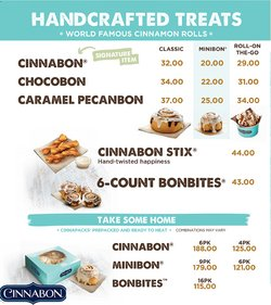 Cinnabon offers in the Cinnabon catalogue ( 9 days left)