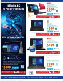 Laptop offers in the Dion Wired catalogue in Cape Town
