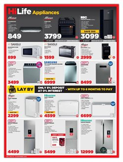 Gas stove specials in HiFi Corp