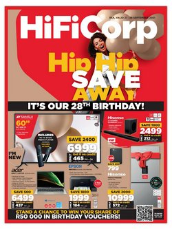 Electronics & Home Appliances offers in the HiFi Corp catalogue ( Expires tomorrow)