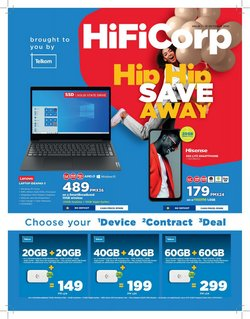 Electronics & Home Appliances offers in the HiFi Corp catalogue ( 14 days left)