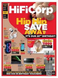 Electronics & Home Appliances offers in the HiFi Corp catalogue ( Expires today)