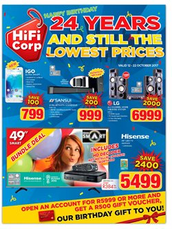 LG offers in the HiFi Corp catalogue in Cape Town
