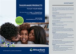 Banks & Insurances offers in the African Bank catalogue ( More than a month )