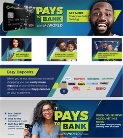 Banks & Insurances offers in the African Bank catalogue ( More than a month)