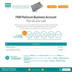 Platinum specials in FNB