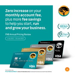 Banks & Insurances offers in the FNB catalogue ( More than a month)