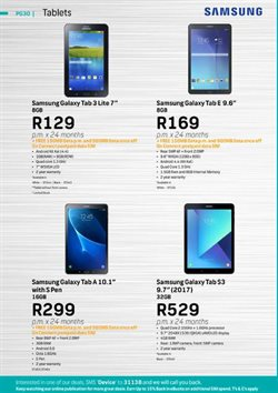 Samsung tablet offers in the FNB catalogue in Cape Town