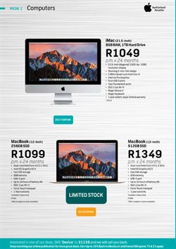 Apple products offers in the FNB catalogue in Cape Town