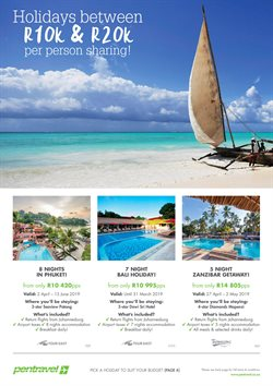 Phuket offers in the Pentravel catalogue in Cape Town