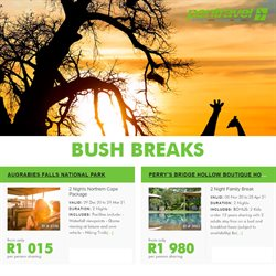 Travel offers in the Pentravel catalogue in Port Elizabeth ( 9 days left )
