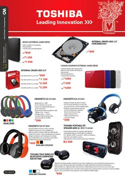 Storage media offers in the Computer Mania catalogue in Cape Town