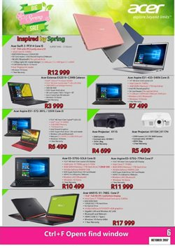 Acer offers in the Computer Mania catalogue in Cape Town