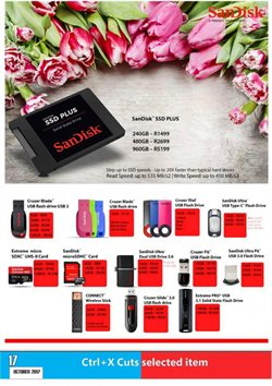Sandisk offers in the Computer Mania catalogue in Cape Town