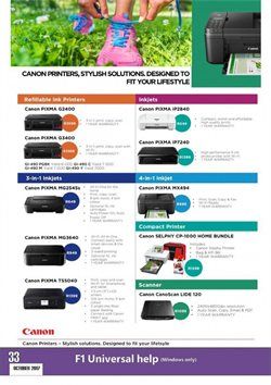 Canon offers in the Computer Mania catalogue in Cape Town