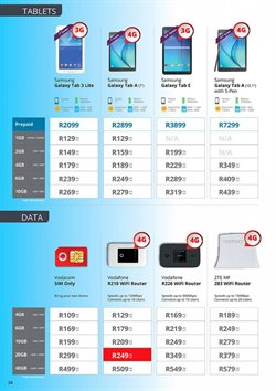 Samsung tablet offers in the Cellucity catalogue in Cape Town