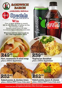Sandwich Baron deals in the Cape Town special