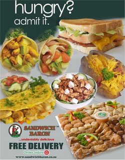 Restaurants offers in the Sandwich Baron catalogue ( More than a month)