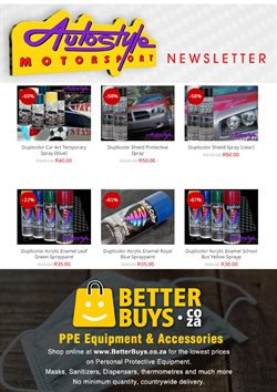 Cars, Motorcycles & Spares offers in the Autostyle catalogue ( 3 days ago )